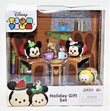 Disney Tsum Tsum Vinyl Holiday Christmas Gift Set Minnie Mickey & Pluto Nib