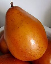 1/One Artificial Faux Fake Decorative Ripe Golden Pear~Realistic~16 Available