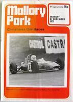 MALLORY PARK 27th Dec 1971 BRSCC Motor Racing Official Programme