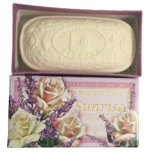 La Saponeria Firenze Sunrise Rose and Lavender Scented Soap 10.5 oz.