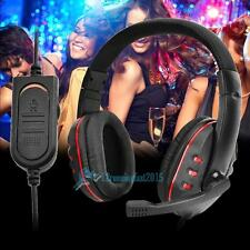 Pro Wired Game Headset Headphone with MIC Voice Control For WII PS4 XBOX One US