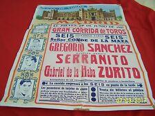 """Original June 29,1967 """" PLAZA DE TOROS """" Madrid, Spain Bullfights travel poster"""