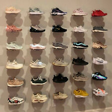 Floating Sneaker Display - Clear Plastic Wall Mount - Set of 25