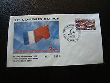 FRANCE - enveloppe 21/12/1990 27e congres du PCF (cy7) french (E)