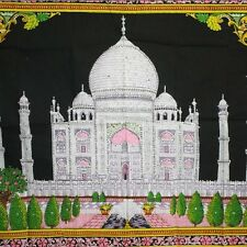 Wandbehang Bild   Taj Mahal großes besticktes  Stoffbild  Indien Wandbild 21
