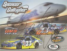 2014 Spencer Gallagher signed Allegiant Airlines Chevy ARCA NASCAR CWTS postcard