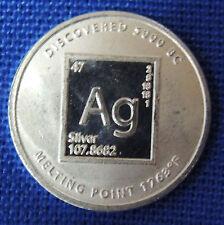 1/10th oz Silver Round - Periodic Table 999 Fine Silver 99.9% Pure Fine Silver