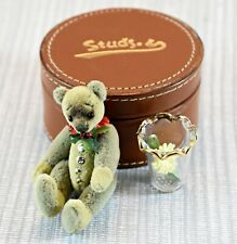 More details for nas miniature artist bear studs in leather box