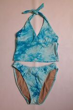 WOMEN'S S, CROSS-FRONT HALTER TANKINI SWIMSUIT BY POINT CONCEPTION, BRAND NEW!