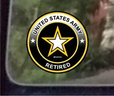 "ProSticker 1068 (One) 4"" United States Army Retired Decal Sticker"