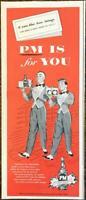 1954 PM Whiskey PRINT AD If You Like Fine Things Boat Steward Bellhop