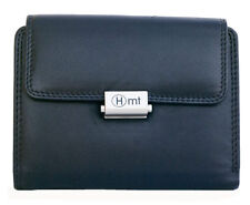 Women's black genuine leather wallet HMT. Delivered Worldwide within one week.