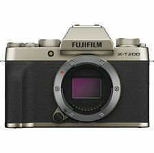 A - Fujifilm X-T200 Digital Mirrorless Camera Body - Champagne Gold