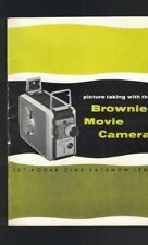 Picture Taking with the Kodak Brownie Movie Camera Booklet 1954
