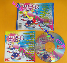 CD Compilation Hit Mania Dance '98 HM 018/CD ITALY 1998 no lp mc vhs dvd (C26*)