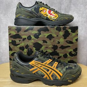 BAPE x ASICS Gel-1090 A Bathing Ape Tiger Camo Green Shoe Men's Adult Size 10.5