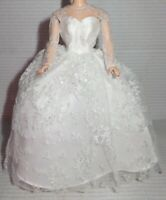 EVENING C ~ DRESS ~ BARBIE DOLL WEDDING DAY WHITE TULLE GOWN REPRO REPRODUCTION