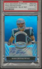 2010 Bowman Sterling Rob Gronkowski AUTO BLUE REFRACTOR Relic /99 RC PSA 10 Mint