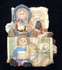 """1996 San Francisco Music Box Company Toy Box Dolls """"That's What Friends Are For�"""
