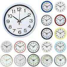 Modern Classic Round Wall Clock Sweep Quartz Movement Bedroom Kitchen Decoration
