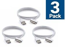 3-Pack For iPhone 4 4S 4G 3GS iPod Touch 4 USB Charger Charging Cable Cord White