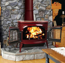 Vermont Castings Encore FlexBurn Red Bordeaux Enamel Wood Stove Free Standing