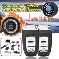 Auto Alarmanlage Sicherheit Fernbedienung Druck Knopf Motor Start Set