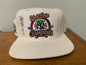 Derek Jeter Autographed and ROY Inscribed New York Yankees 1996 World Series Hat