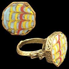 RARE ANCIENT PHOENICIAN DECORATIVE STONE RING 300BC SUPER QUALITY (9)