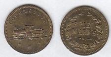 Lok Eisenbahn Locomotive Nürnberger Rechenpfennig Spielmarke Me stampsdealer