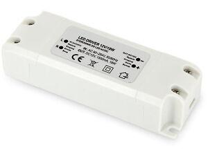 Trasformatore 18W 230V A 12V - LED Compatibile Da 1W - Alimentatore Banda