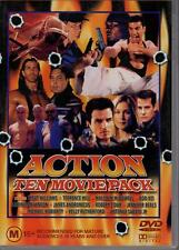 ACTION TEN MOVIE PACK - 4 DVD SET - VG CONDITION - FREE POST