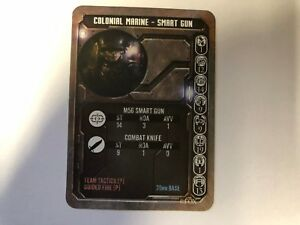 COLONIAL MARINE WITH SMART GUN GAME CARD - ALIEN VS PREDATOR - PRODOS - AVP