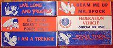 1979 STAR TREK BUMPER STICKERS- (6)