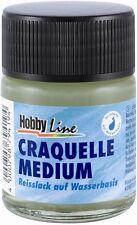 (100ml=6,98€) Craquelle Medium 50ml Reisslack Wasserbasis Struktur Acryllack