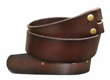 Dark Brown Leather Snap on Belt Strap Men's 34 M Removable Western NEW Women's