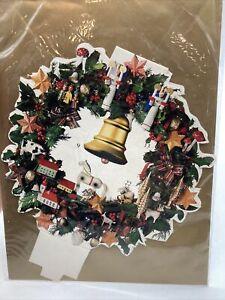 New Vintage Christmas Advent Calendar Wreath Greeting Card Germany NIP