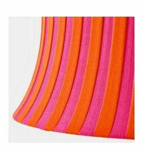 Ikea Amtevik round lamp shade, orange and pink 22 MCM mid century modern