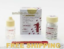 GC Gold Label Fuji 1 Luting & Lining Glass Ionomer Dental Cement Light Yellow