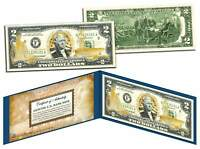 United States NAVY $2 Bill US Genuine Legal Tender GOLD LEAF Laser Line MILITARY