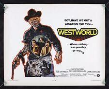 WESTWORLD * CineMasterpieces ORIGINAL MOVIE POSTER WESTERN COWBOY WEST WORLD