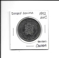 (E) 1992 UNC Double Dollar Quebec, Canada
