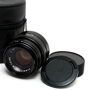 Leica M 2/50mm Summicron black with  built-in hood