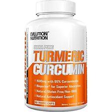Evlution Nutrition Turmeric Curcumin with Bioperine 1500mg. Premium Pain Reli...