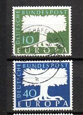BRD 1957 Stamped No. 268 - 269 O. WZ Europe brands with round stamp