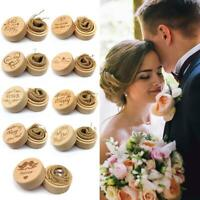 Personalised Wood Wedding Ring Box Case Rustic Ring Bearer Box Valentines Gift