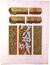 Stampa antica Stile arabo  Alhambra Granada Spagna1920 Grabado Antiguo Old Print