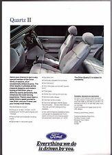 Ford Orion Quartz II Mk3 Limited Edition Autumn 1991 UK Market Leaflet Brochure