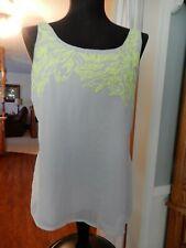 Nice Express Women's Sleeveless Top Size Medium Tan/Yellow