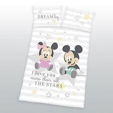 Disney Minnie Mickey Mouse Baby Bettwäsche  40 x 60 cm + 100 x 135 cm